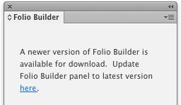 Folio Builder panel update screen shot